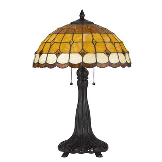 CAL Lighting BO-2797TB 60W X 2 Tiffany Table Lamp