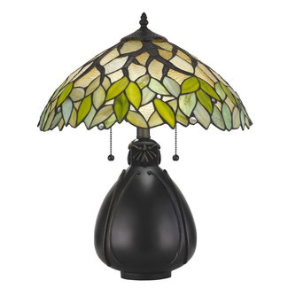 CAL Lighting BO-2798TB 60w X 2 Tiffany Table Lamp