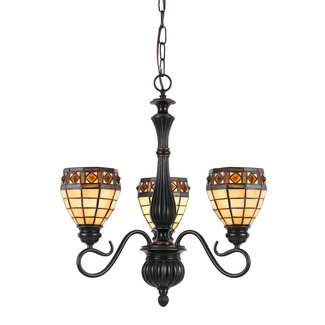 CAL Lighting FX-2332-3 60W X 3 Tiffany Pendant Fixture