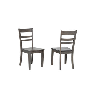 Sunset Trading Shades of Gray Slat Back Dining Chair DLU-EL-C200-Set of 2