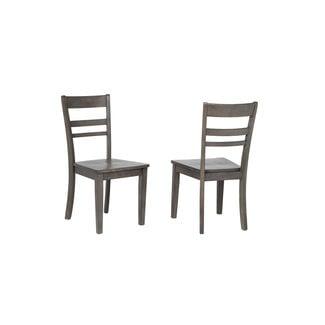 Sunset Trading Shades of Gray Slat Back Dining Chair DLU-EL-C200-Set of 2