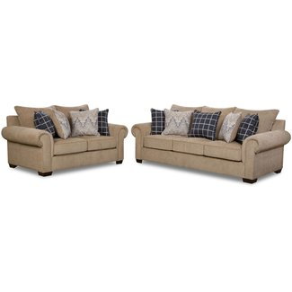 Lane® Home Furnishings 7592BR0302 Living Room Set Brown, 2 PC Set
