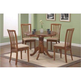 Coaster Brannan 5-Piece Dining Set, Warm Maple