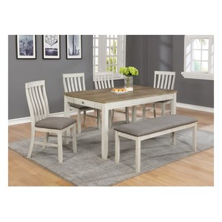 Crown Mark Nina |  Dining Set With Bench 2217T-3660+4xS+BENCH
