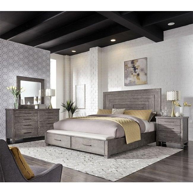 Liberty Furniture Modern Farmhouse King Storage Bed (406-BR-KSB)