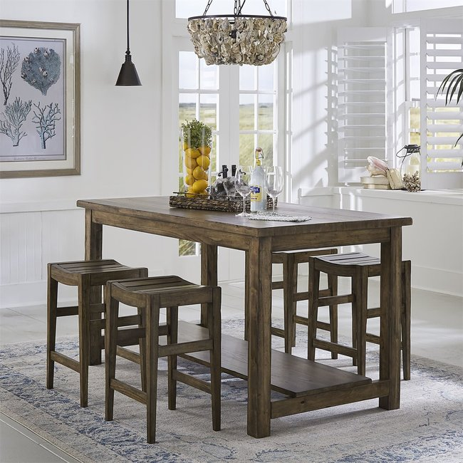 Liberty Furniture Color Nook 5 Piece Gathering Table Set