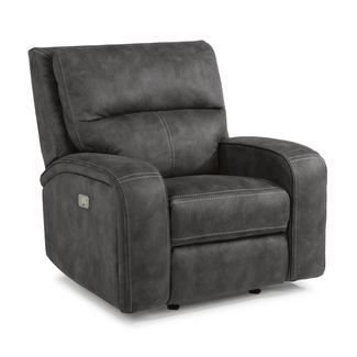 Flexsteel® Nirvana | 1650  Fabric Power Gliding Recliner with Power Headrest 1650-54PH