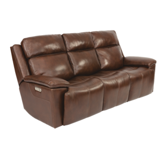 Flexsteel® Chance Power Reclining Sofa with Power Headrests 1187-62PH