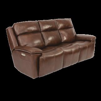 Flexsteel Furniture Chance Power Reclining Sofa with Power Headrests 1187-62PH
