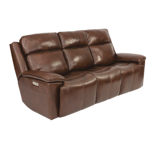 Flexsteel Chance Power Reclining Sofa with Power Headrests 1187-62PH