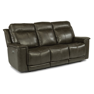 Flexsteel® Miller Leather Power Reclining Sofa with Power Headrests 1729-62PH in 204-04