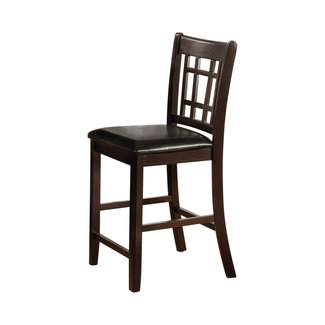 Coaster Counter Height Stools Black And Espresso (Set Of 2)