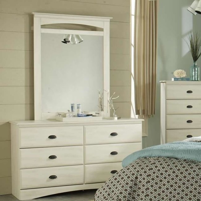Lang DURAND -Six Drawer Dresser & Mirror