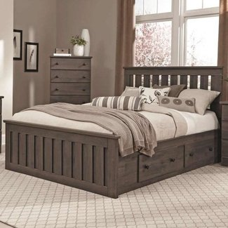Lang Queen Panel Captains Bed with Storage