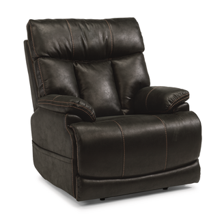 Flexsteel® Clive Power Recliner with Power Headrest and Lumbar
