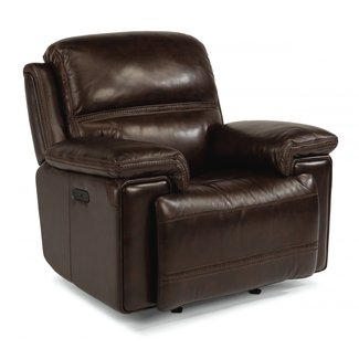 Fenwick Leather Power Gliding Recliner with Power Headrest 1659-54PH