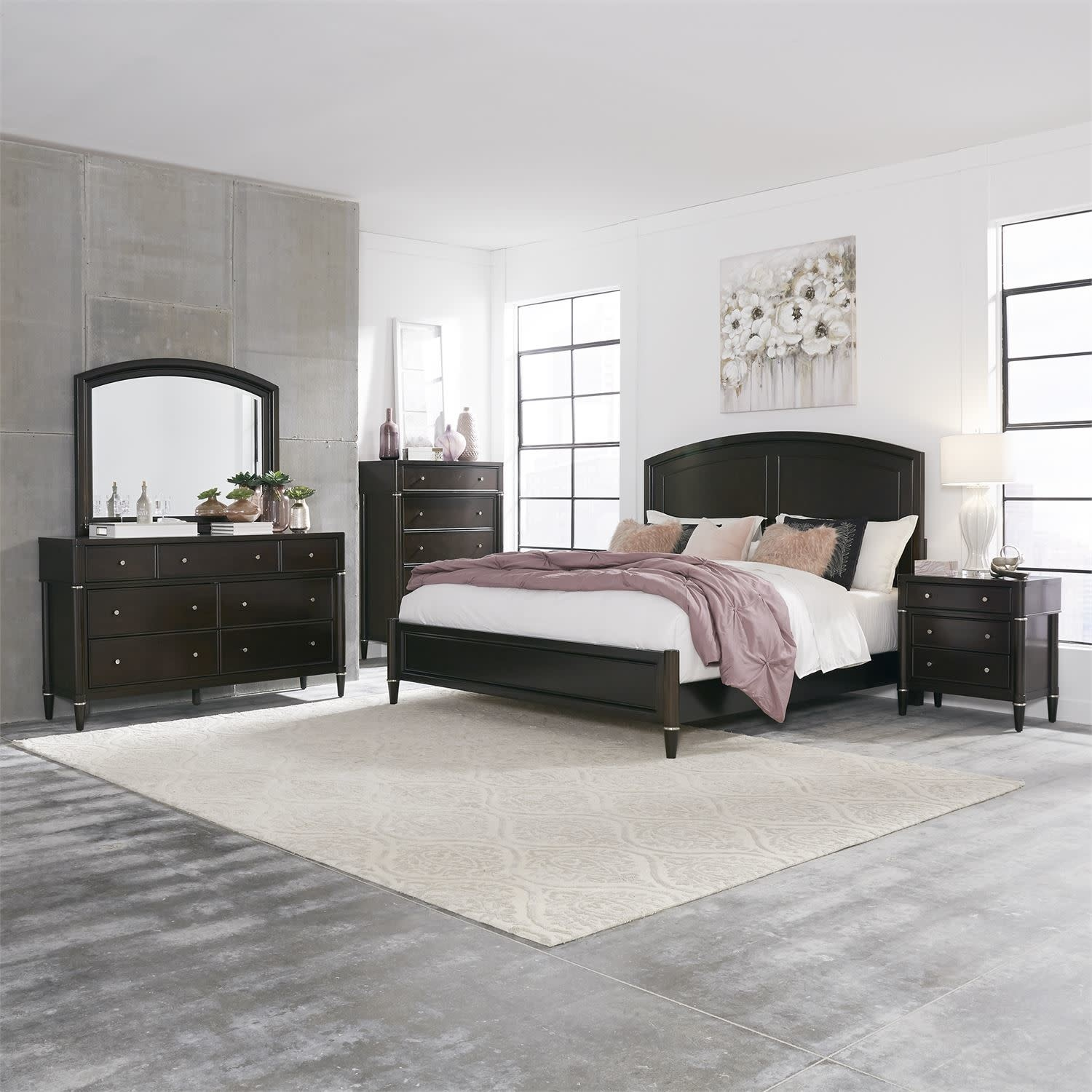 Essex 425 Br Qpbdmcn 7 Pc Queen Panel Bedroom Set By Liberty Furniture Wholesale Furniture Mattress