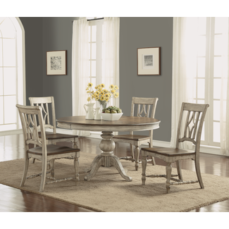 Flexsteel Furniture Table and 4 chairs Plymouth Dining Set
