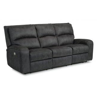 Flexsteel® Nirvana Fabric Power Reclining Sofa with Power Headrests 1650-62PH