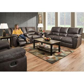 Lane® Home Furnishings 50433 Reclining Loveseat Gray