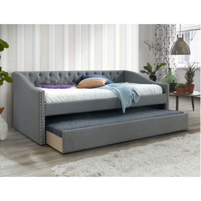 Crown Mark Loretta Gray Daybed with Trundle-5325
