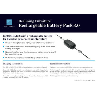 Flexsteel® Reclining Furniture Rechargeable Battery Pack 3.0