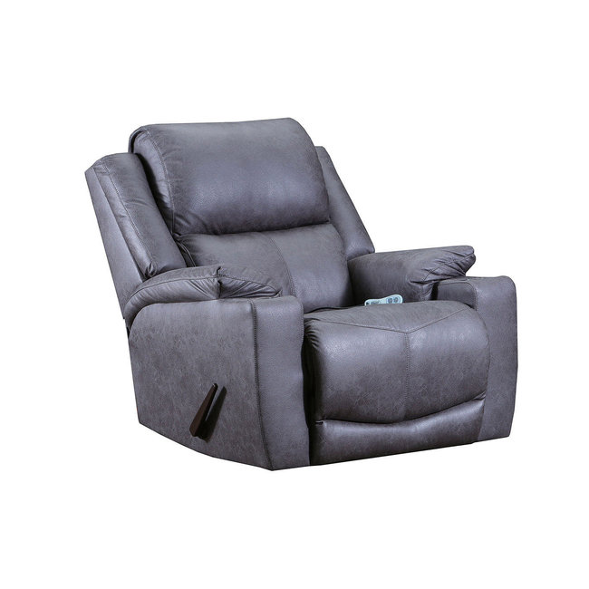 Lane® Home Furnishings Chaz Desoto Charcoal Rocker Recliner with Massage and Heat-4050-191-9744A