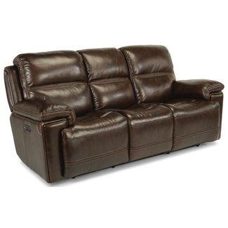 Flexsteel® Fenwick Leather Power Reclining Sofa