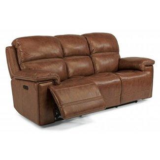 Flexsteel Fenwick Leather Power Reclining Sofa