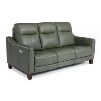 Flexsteel Forte Power Reclining Sofa with Power Headrests