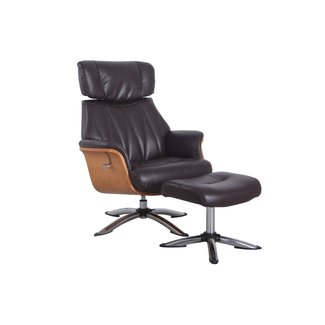 Mac Motion Cologne Recliner Espresso Air Leather