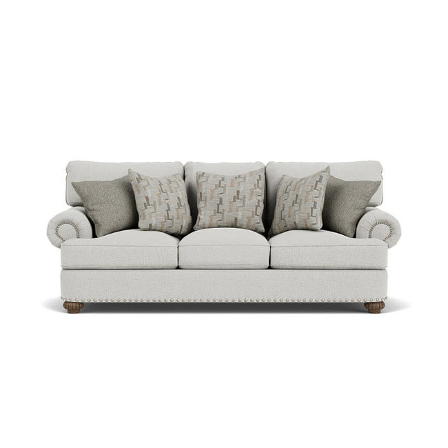 Flexsteel Patterson Sofa with Nailheads 7322-31