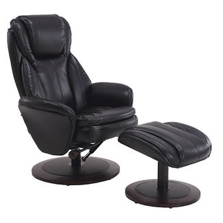 Mac Motion Norway Recliner & Ottoman in  Air Leather