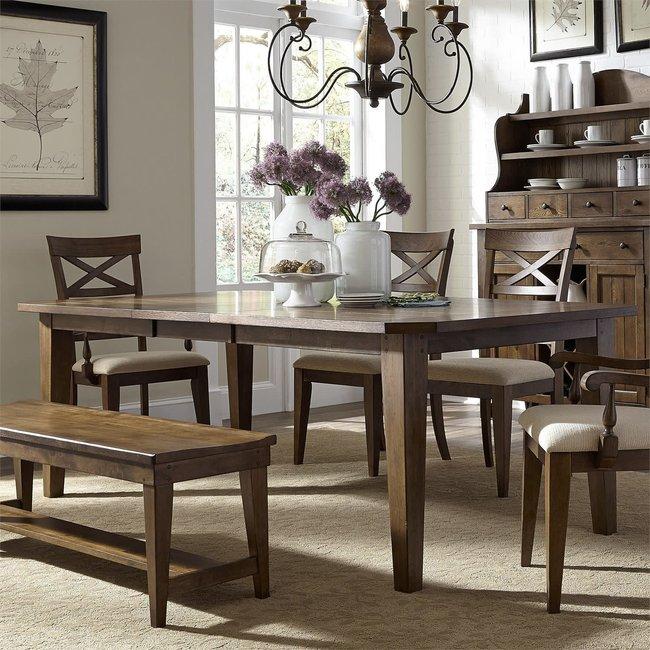 Liberty Furniture Hearthstone Ridge Rectangular Leg Table W44 x D108 x H30