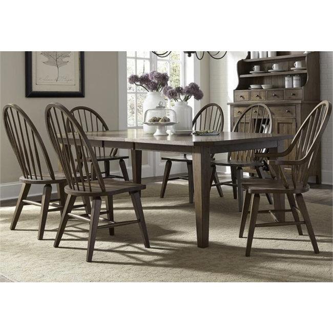 Liberty Furniture Hearthstone Ridge 7 Piece Rectangular Table Set