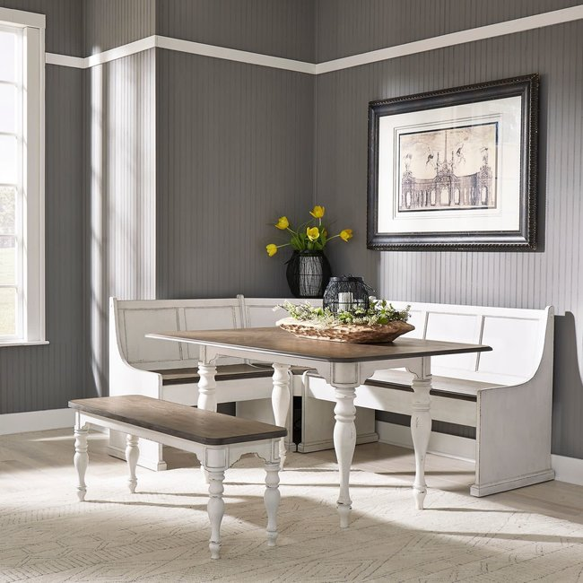 Liberty Furniture Magnolia Manor 5 Piece Rectangular Table Set SKU: 244-CD-5RLS