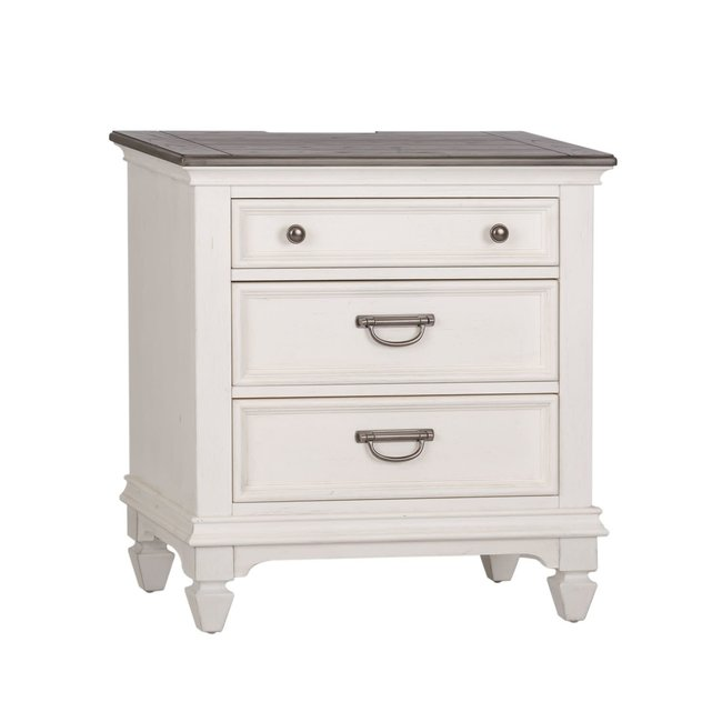 Liberty Furniture Allyson Park Night Stand w/ Charging Station SKU: 417-BR61