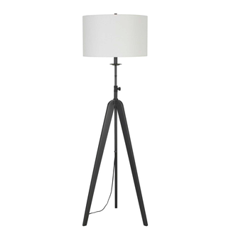 CAL Lighting Pratt metal tripod floor lamp with adjustable height