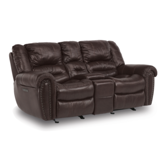 Town Gliding Reclining Loveseat with console  Gliding Reclining Loveseat with console -604 048-62