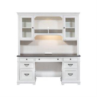 Liberty Furniture Credenza & Hutch (417-HOJ-CHS)