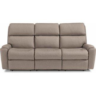 Flexsteel Rio Power Reclining Sofa with Power Headrests