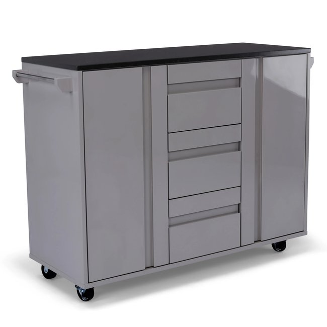 homestyles® Linear Gray Kitchen Cart - 8001-952