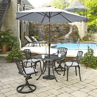 homestyles® Grenada Charcoal 6 Piece Outdoor Dining Set - 6660-30586C