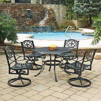 homestyles® Sanibel Black 5 Piece Outdoor Dining Set - 6654-325