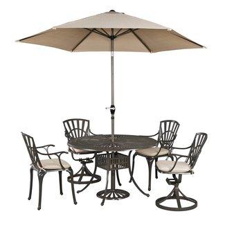 homestyles® Grenada Khaki Gray 6 Piece Outdoor Dining Set - 6661-32586C