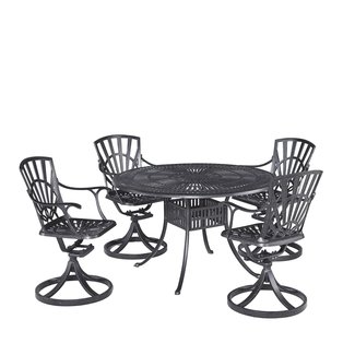 homestyles® Grenada Charcoal 5 Piece Outdoor Dining Set - 6660-325