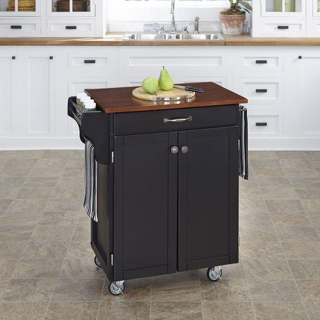 homestyles® Cuisine Cart Black Kitchen Cart - 9001-0047G