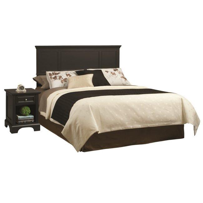 homestyles® Bedford Black King Headboard and Nightstand - 5531-6011