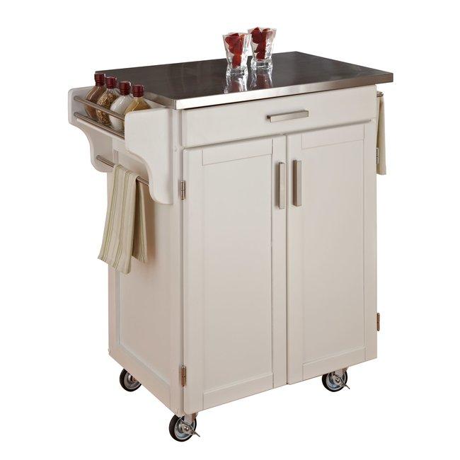 homestyles® Cuisine Cart Off-White Kitchen Cart - 9001-0022