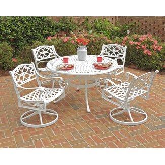 homestyles® Sanibel White 5 Piece Outdoor Dining Set - 6652-305